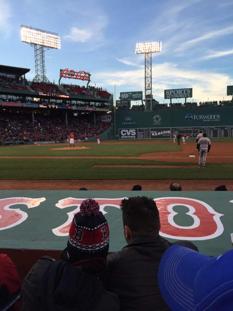 Seating view for Fenway Park Section Field Box 26 Row E Seat 4