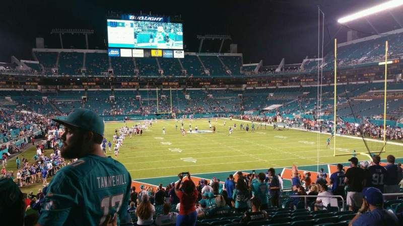 Seating view for Hard Rock Stadium Section 106 Row 25 Seat 11