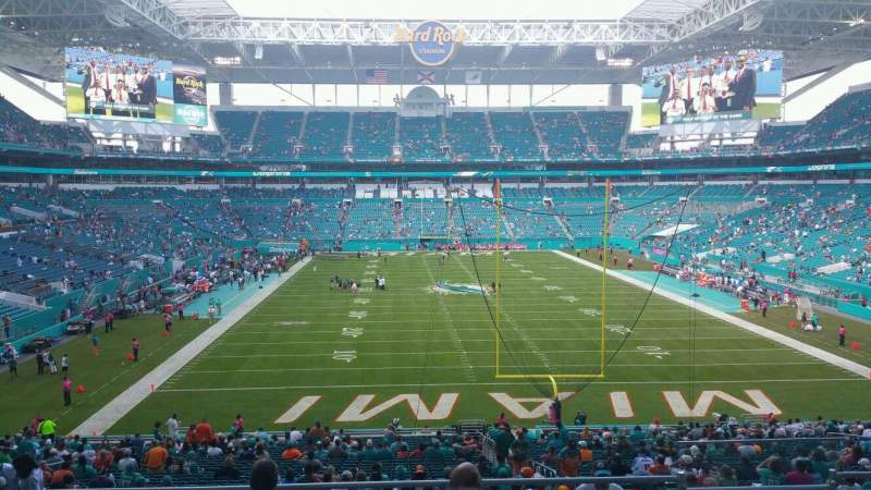 Seating view for Hard Rock Stadium Section 234 Row 14 Seat 14