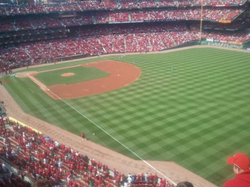 Seating view for Busch Stadium Section 332 Row 4 Seat 13