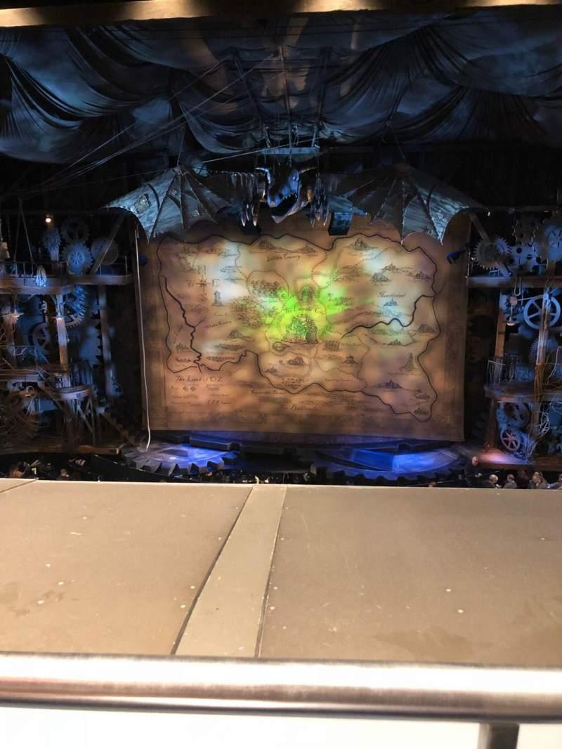 Gershwin Theatre, section: Front Mezzanine C, row: A, seat: 114