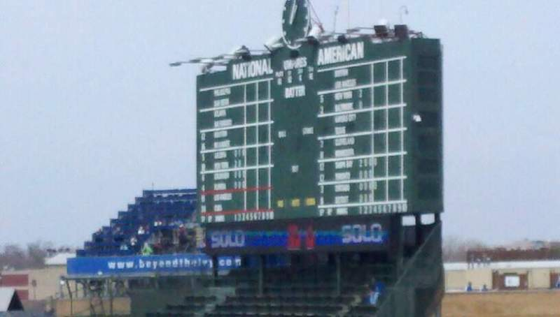 Seating view for Wrigley Field Section rooftops
