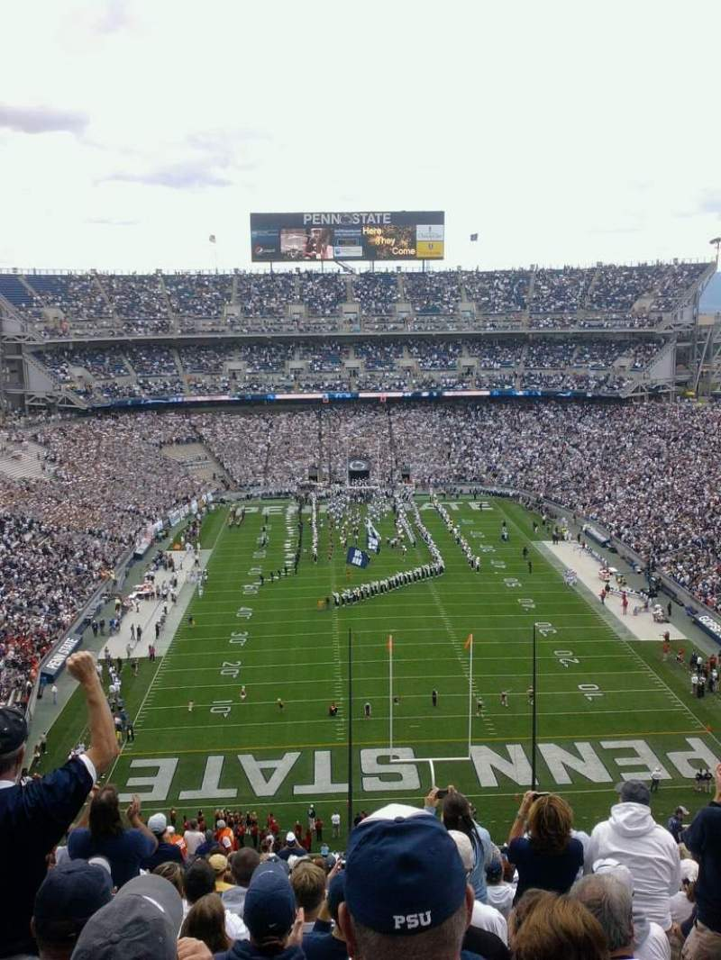 Seating view for Beaver Stadium Section nfu Row 95 Seat 30
