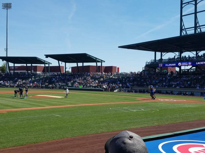 Sloan Park, section: 107, row: 6, seat: 4