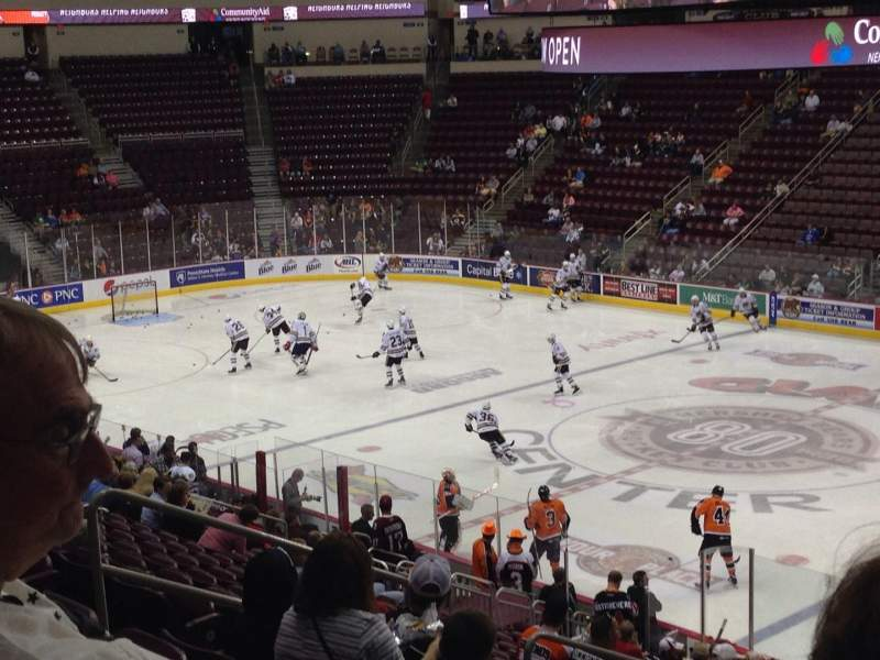 Seating view for Giant Center Section 122 Row W Seat 11