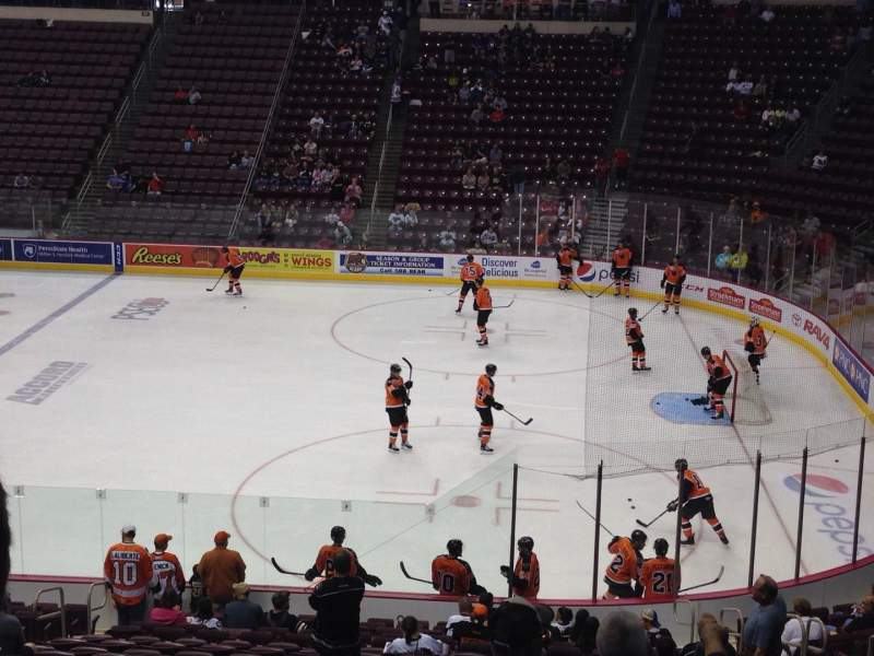Seating view for Giant Center Section 122 Row W Seat 12