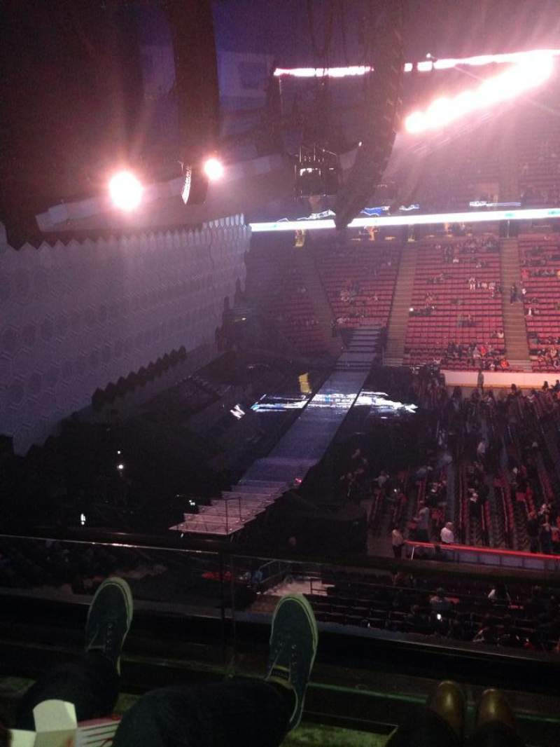 Seating view for Izod Center Section 214 Row 2 Seat 1