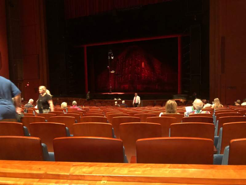 Seating view for Au-Rene Theatre at the Broward Center Section Orchestra R Row Y Seat 14