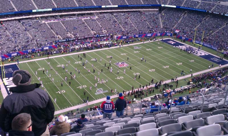 Seating view for MetLife Stadium Section 343 Row 28 Seat 10