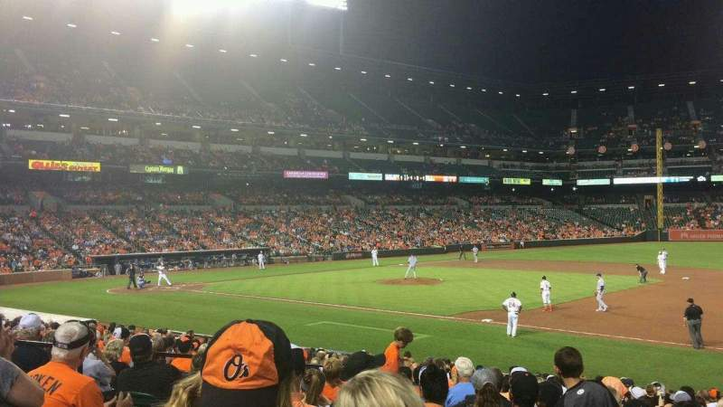 Seating view for Oriole Park at Camden Yards Section 16 Row 21 Seat 7