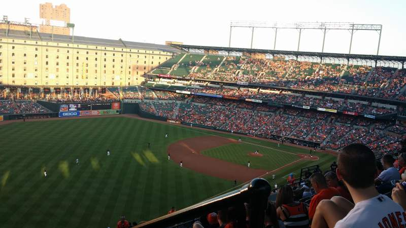 Seating view for Oriole Park at Camden Yards Section 372 Row 21 Seat 1