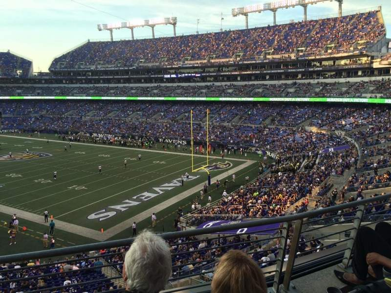 Seating view for M&T Bank Stadium Section 218 Row 3 Seat 7