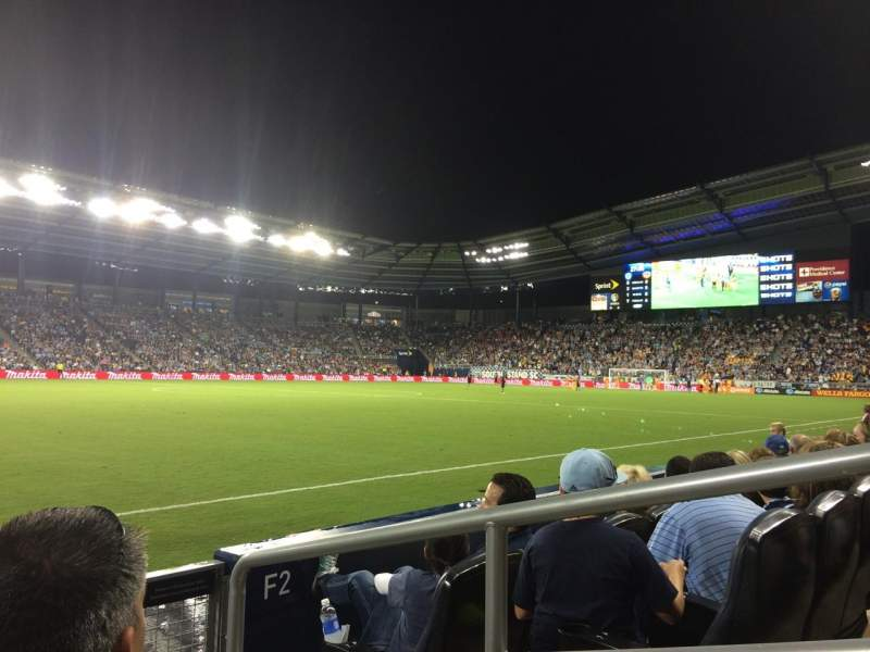 Seating view for Children's Mercy Park Section F1 Row 3 Seat 17
