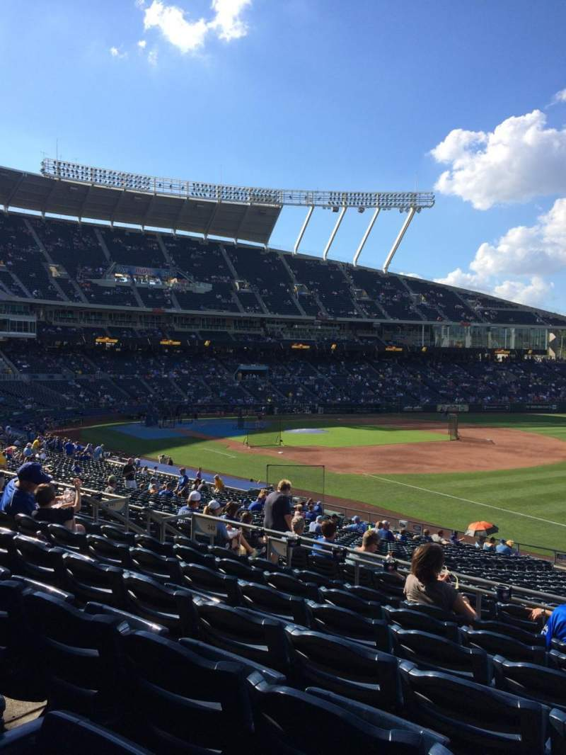Seating view for Kauffman Stadium Section 242 Row GG Seat 12