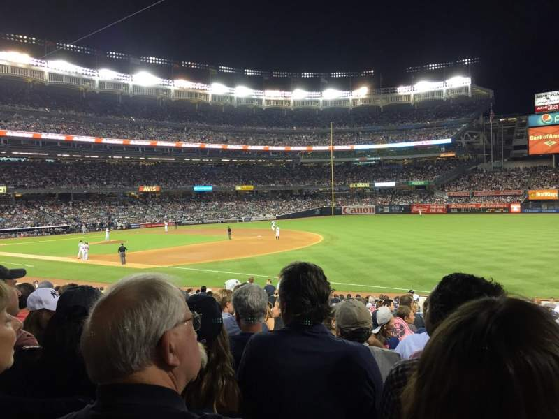 Seating view for Yankee Stadium Section 112 Row 24 Seat 2