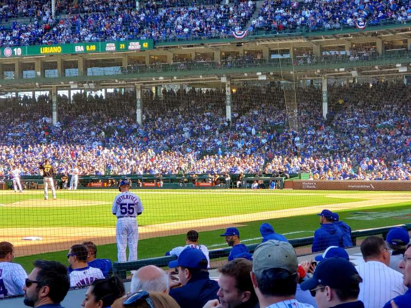 Seating view for Wrigley Field Section 9 Row 10 Seat 9