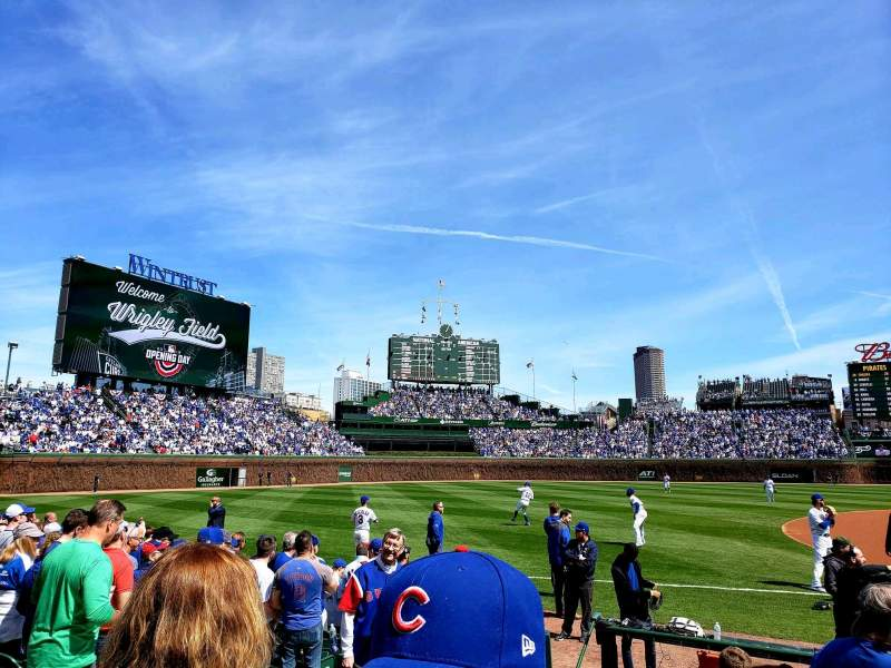 Seating view for Wrigley Field Section 9 Row 10 Seat 10