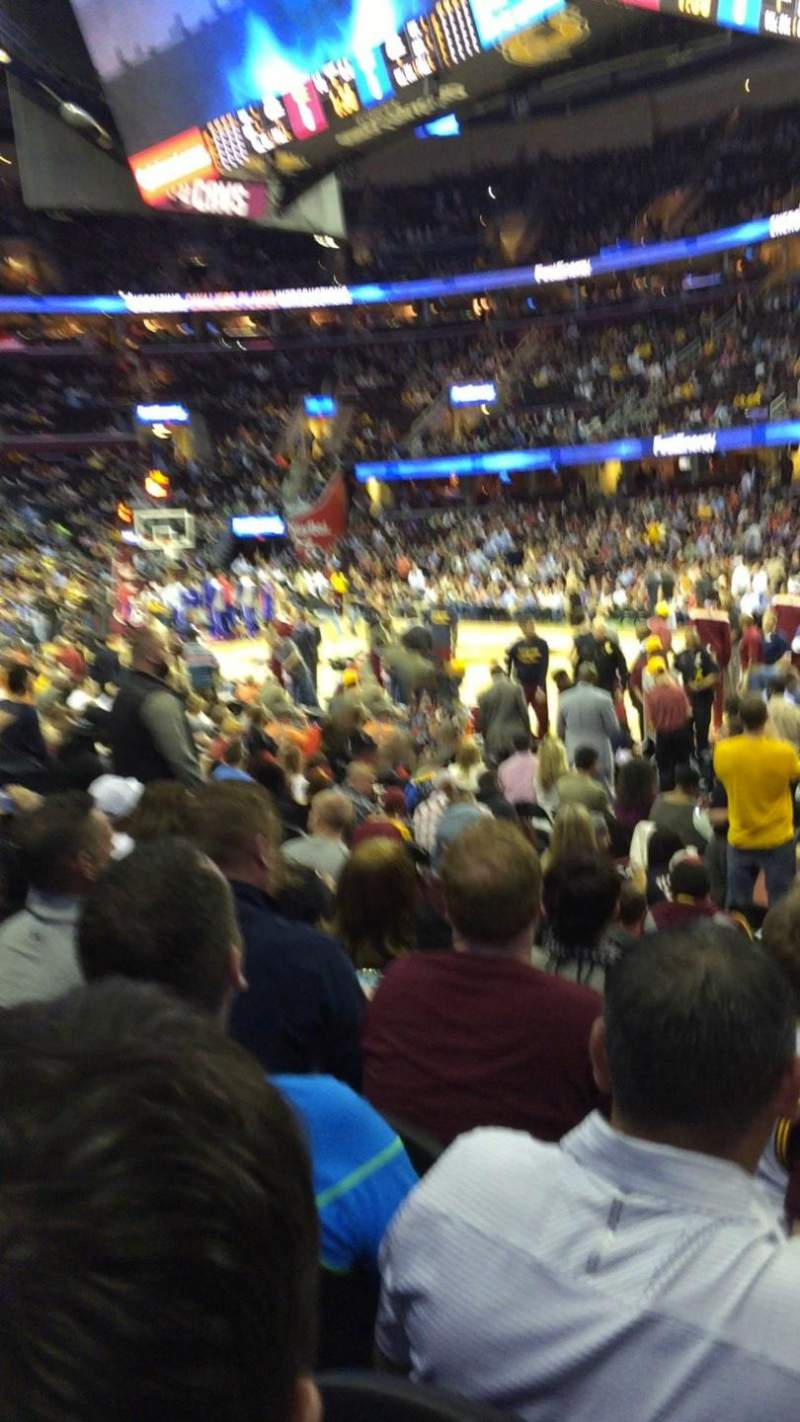 Seating view for Quicken Loans Arena Section 128 Row 11 Seat 14