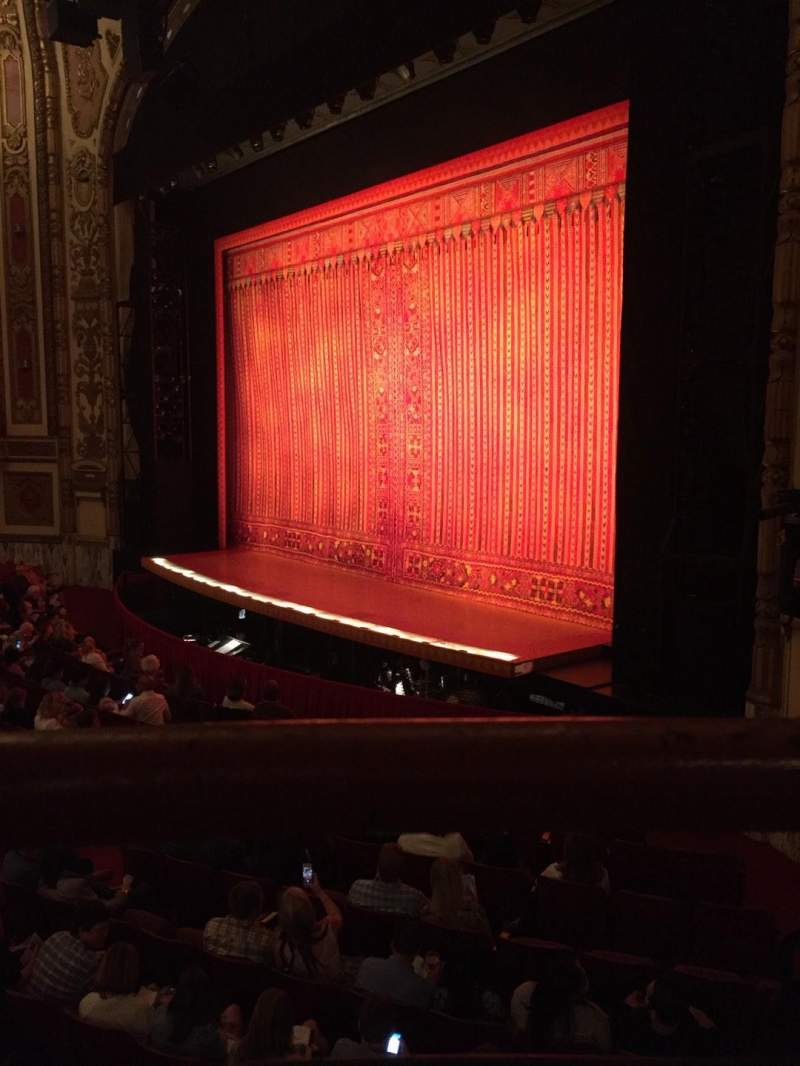 Seating view for Cadillac Palace Theater Section Dress Circle R Row AA Seat 2