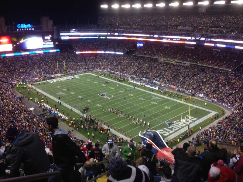 Seating view for Gillette Stadium Section 301 Row 18 Seat 12