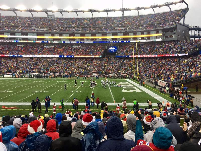 Seating view for Gillette Stadium Section 106 Row 20 Seat 8