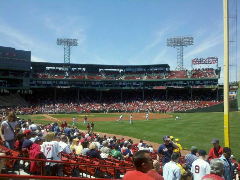 Seating view for Fenway Park Section Right Field Box 93 Row MM Seat 16