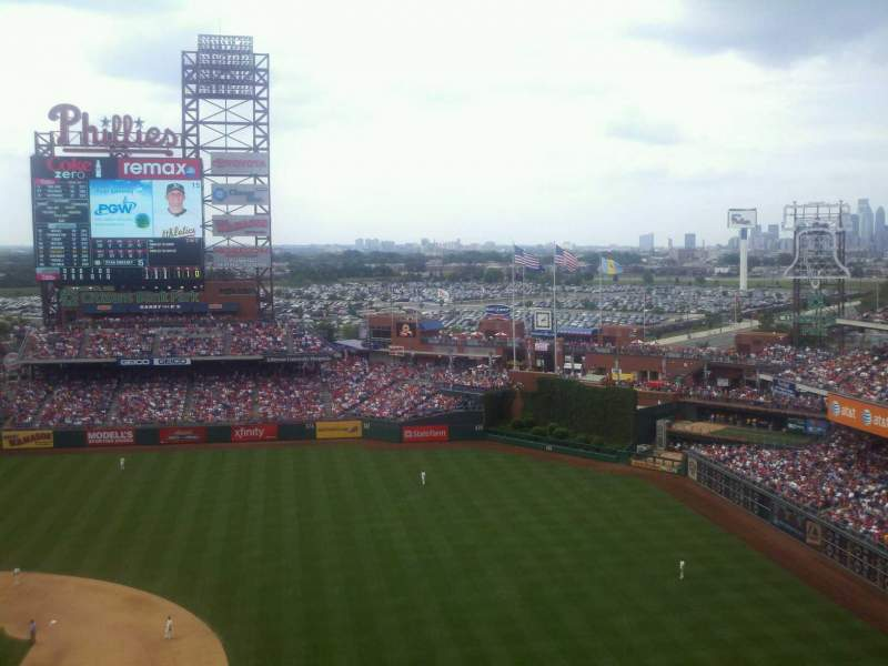 Seating view for Citizens Bank Park Section 413 Row 4 Seat 21