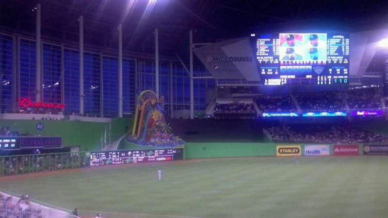 Seating view for Marlins Park Section 22 Row 8 Seat 24