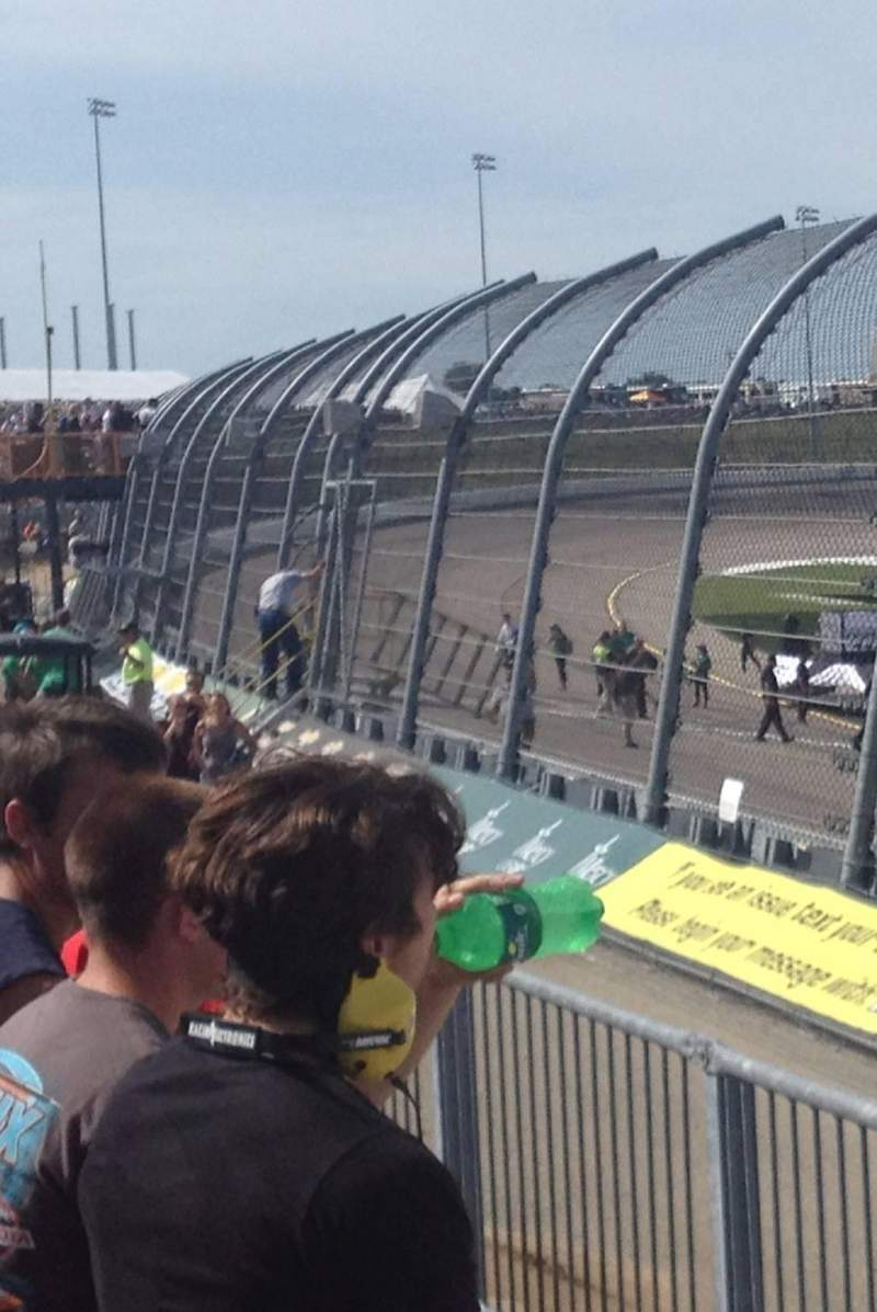 Seating view for Iowa Speedway Section 108 Row 3 Seat 4