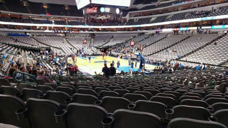 Seating view for American Airlines Center Section 114 Row R Seat 12