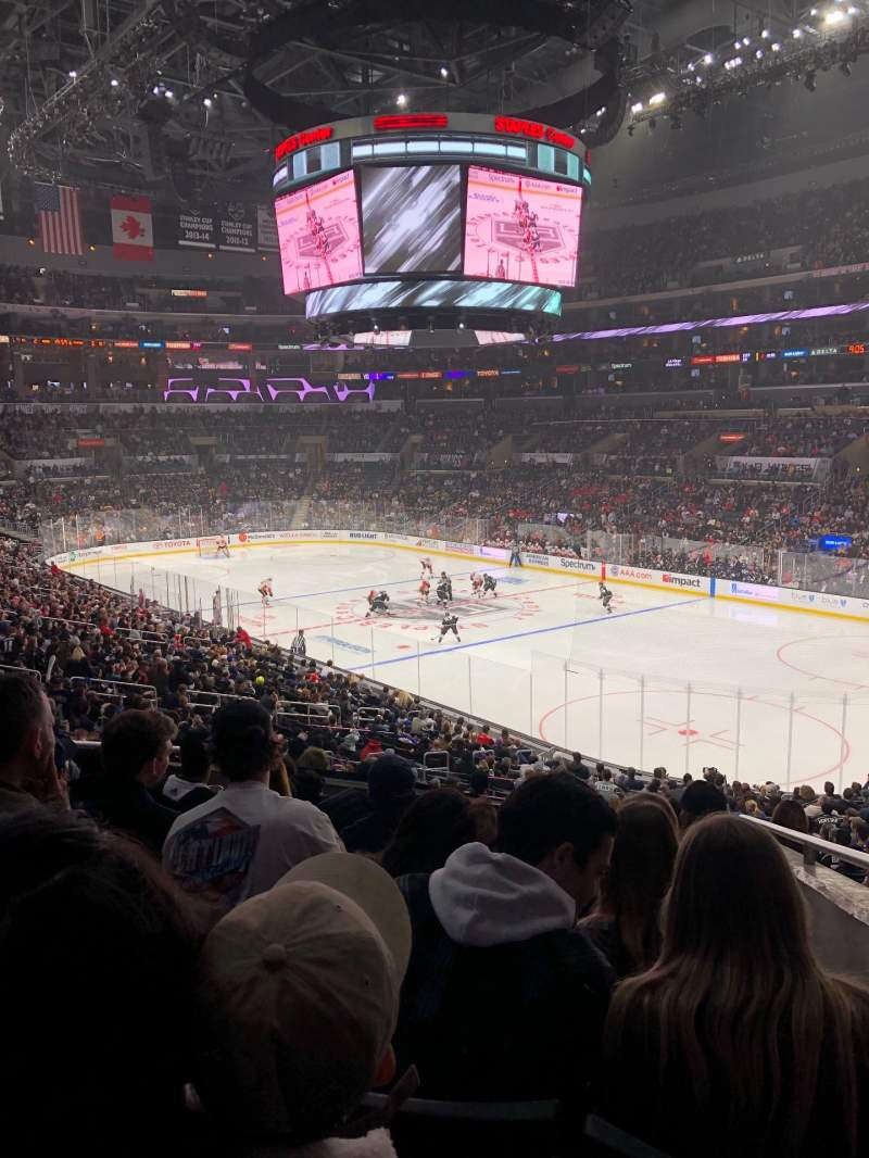 Seating view for Staples Center Section PR10 Row 8 Seat 6