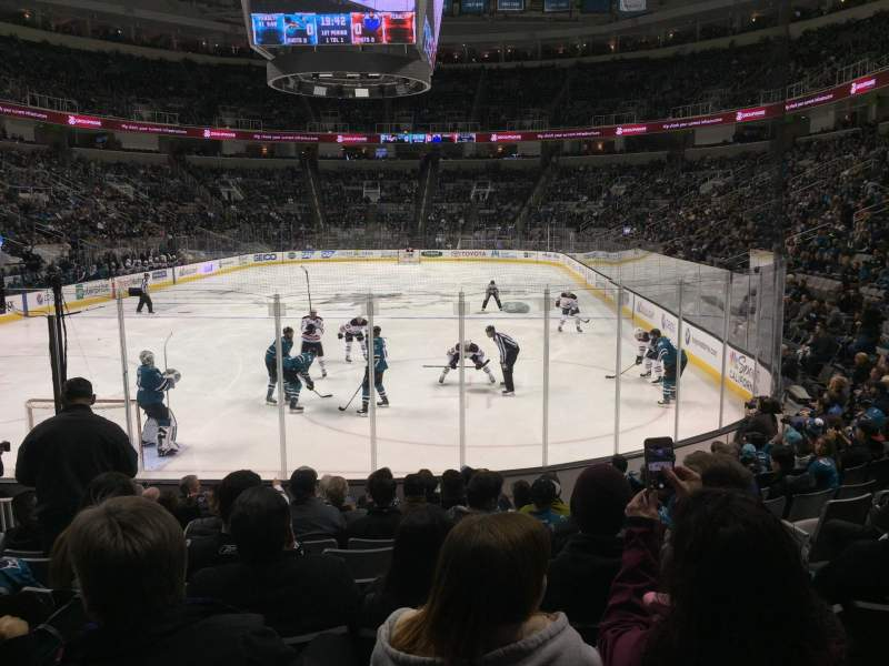 Seating view for SAP Center Section 121 Row 11 Seat 6