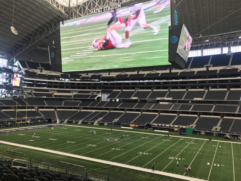 Seating view for AT&T Stadium Section C134 Row 18