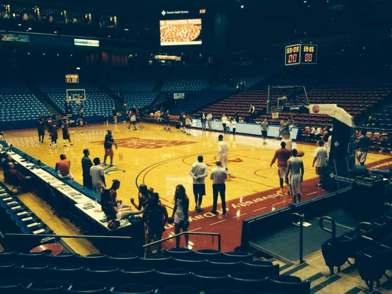 Seating view for University Of Dayton Arena Section 110 Row J Seat 7