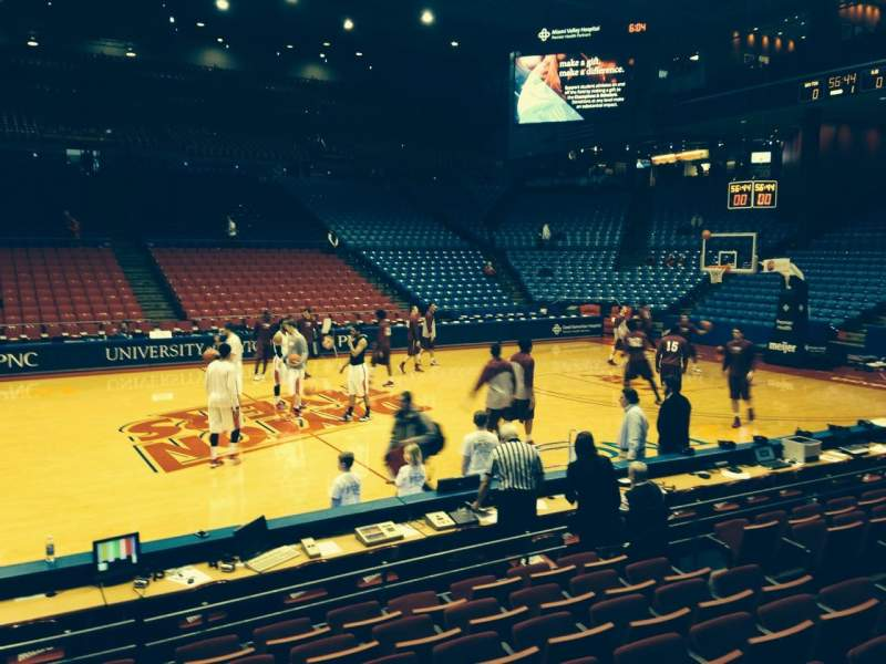 Seating view for University Of Dayton Arena Section 105 Row H Seat 9