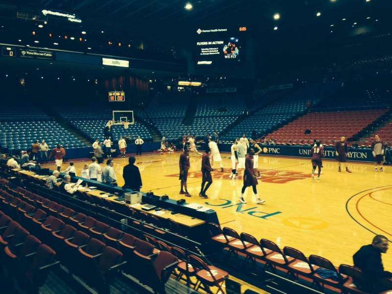 Seating view for University Of Dayton Arena Section 103 Row E Seat 8