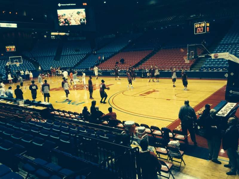 Seating view for University Of Dayton Arena Section 102 Row J Seat 17