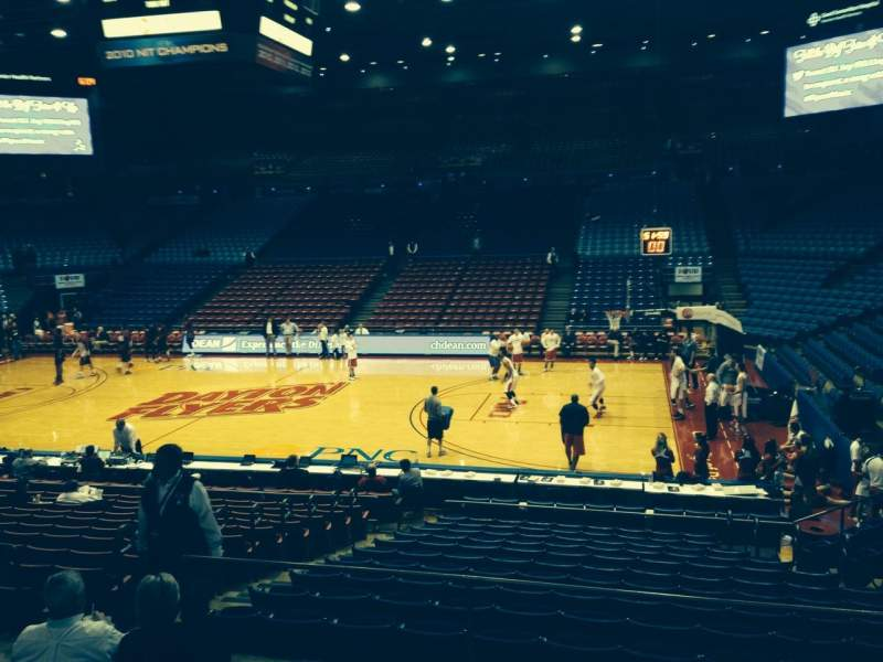 Seating view for University Of Dayton Arena Section 217 Row F Seat 10