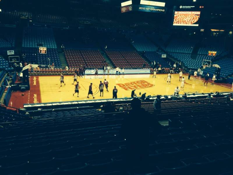 Seating view for University Of Dayton Arena Section 220 Row L Seat 10