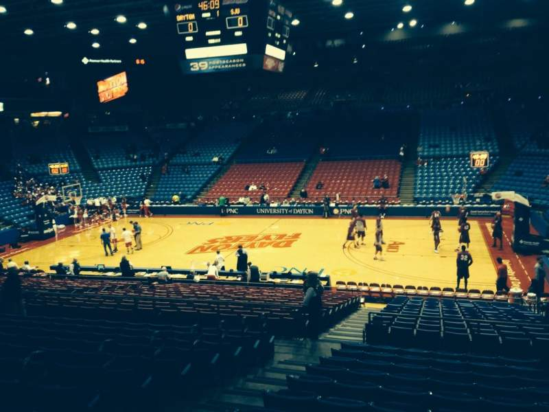 Seating view for University Of Dayton Arena Section 205 Row L Seat 11