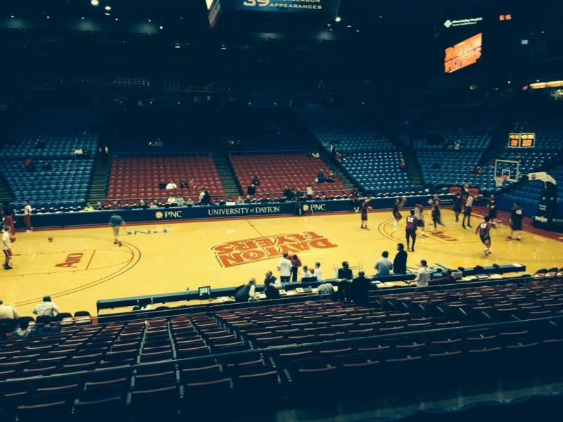 Seating view for University Of Dayton Arena Section 207 Row F Seat 10