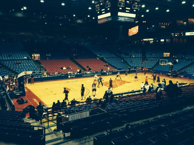 Seating view for University Of Dayton Arena Section 209 Row G Seat 3
