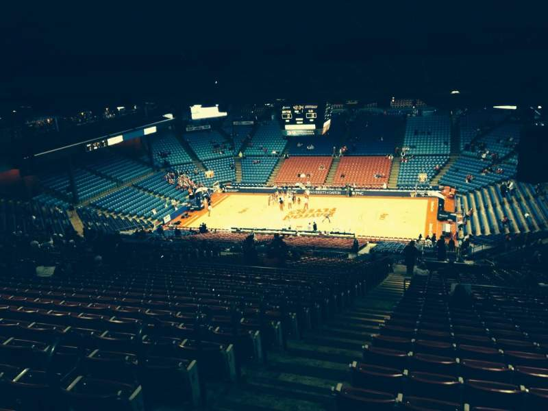 Seating view for University Of Dayton Arena Section 402 Row P Seat 15