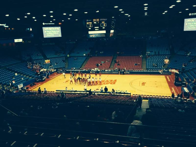 Seating view for University Of Dayton Arena Section 303 Row F Seat 8
