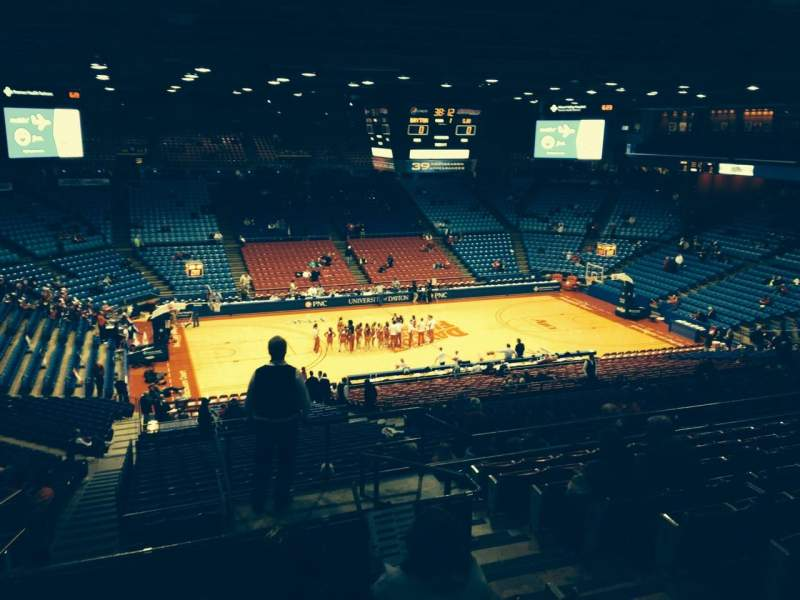 Seating view for University Of Dayton Arena Section 306 Row J Seat 4