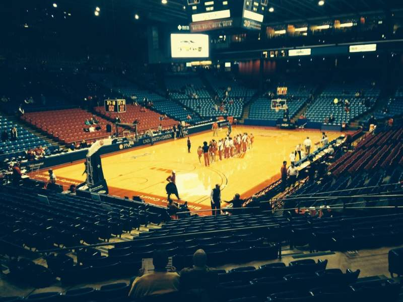 Seating view for University Of Dayton Arena Section 210 Row H Seat 6