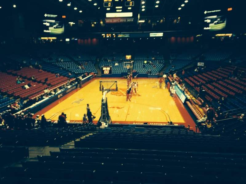 Seating view for University Of Dayton Arena Section 212 Row K Seat 10