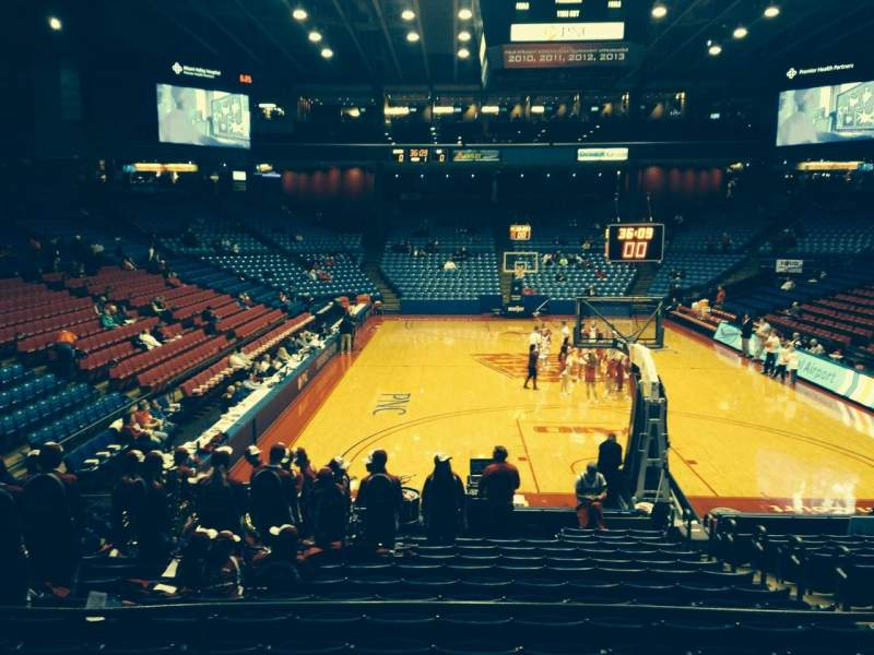 Seating view for University Of Dayton Arena Section 213 Row D Seat 6