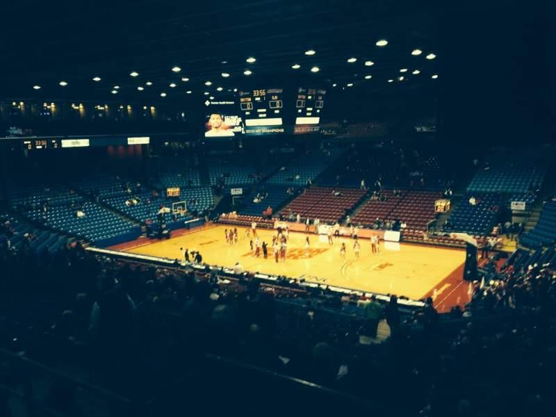 University Of Dayton Arena, section: 218, row: G, seat: 3