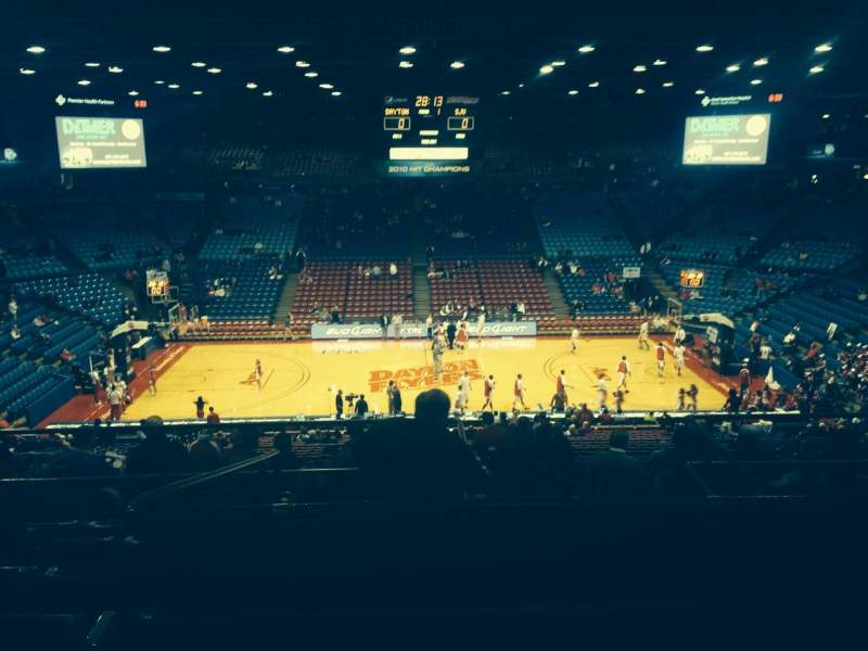 Seating view for University Of Dayton Arena Section 311 Row H Seat 11
